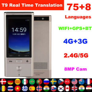 75 Language Portable Bluetooth Wifi Gps Smart Real Time Voice Translator Travel