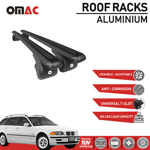 Roof Rack Cross Bars Luggage Carrier Black For Bmw 3 Series 325xi 2001 2006
