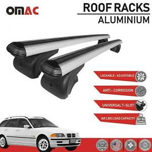 Roof Rack Cross Bars Luggage Carrier Silver For Bmw 3 Series 325xi 2001 2006
