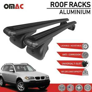 Roof Rack Cross Bars Luggage Carrier Black Set For Bmw X3 2003 2010