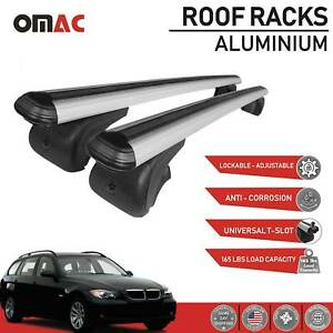 Roof Rack Cross Bars Luggage Carrier Silver For Bmw 3 Series 335i 2007 2010