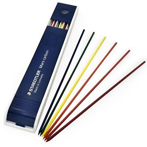 Staedtler Mars Carbon Mechanical Pencil Leads 2 0mm 12 Pack Assorted Colours