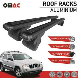 Roof Rack Cross Bars Luggage Carrier Black For Jeep Cherokee Wk 2005 2010