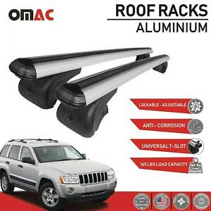 Roof Rack Cross Bars Luggage Carrier Silver For Jeep Cherokee Wk 2005 2010