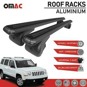 Roof Rack Cross Bars Luggage Carrier Black Set For Jeep Patriot 2007 2017