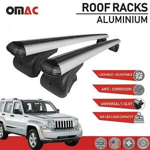 Roof Rack Cross Bars Luggage Carrier Silver For Jeep Liberty Kk 2008 2012
