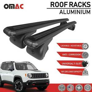 Fits Jeep Renegade 2015 2021 Roof Rack Cross Bars Luggage Carrier 2 Pieces Black