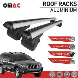 Roof Rack Cross Bars Luggage Carrier Silver For Jeep Grand Cherokee Wj 1999 04