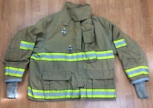 Globe Gx 7 Firefighter Bunker Turnout Jacket 52 Chest X 32 Length