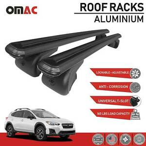 Roof Rack Cross Bar Carrier Rails Roof Bar Black Fits Subaru Crosstrek 2018 2021
