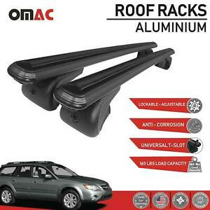 Roof Rack Cross Bars Rails Carrier Black For Subaru Impreza Outback 2004 2009