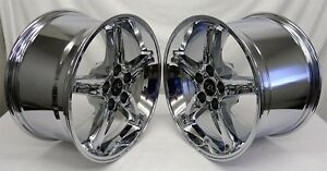 17 Chrome Ford Mustang Cobra R Style Wheels 17x9 17x10 5 Rims 5x114 3 94 04