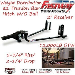 92 00 1200 Fastway Trailer E2 Trunnion Bar Weight Distribution Hitch 12000lb Gtw