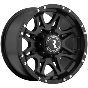 4 16 Inch Raceline 981 Raptor 16x8 8x165 1 8x6 5 0mm Matte Black Wheels Rims