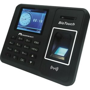 Acroprint Biotouch Time Clock Biometric 500 Employees Digital 1 Each