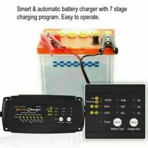 Car Battery Charger Maintainer Tender Trickle Automatic Motorcycle Kit 12v Eu