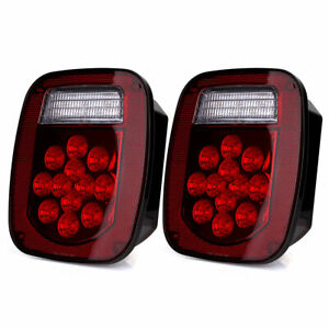 1 Pair Trailer Brake Tail Light Stop Turn Signal For Kenworth Freightliner Truck
