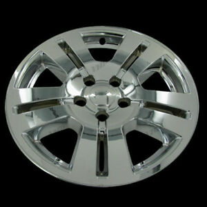 For 07 12 Ford Edge 17 Chrome Wheel Skins Cover Replacement Hub Caps Set Of 4