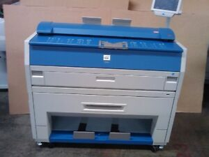 Kip 3100 Wide Format Plotter 2 Roll Print Scan Copy does A Good Test Print