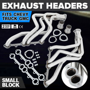 Oem Truck Header Fit 1973 1985 Small Block Chevy Gmc Stainless Steel Can