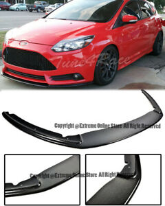For 12 14 Ford Focus St Mk3 Add On Splitter Front Lower Bumper Lip Carbon Fiber