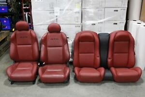 2004 2006 Pontiac Gto Red Leather Seats Front Rear Gm Oem Used Hot Rod Swap