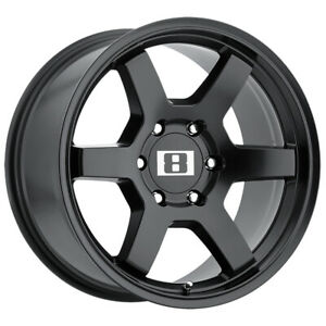4 Level 8 Mk6 17x9 6x139 7 6x5 5 12mm Matte Black Wheels Rims