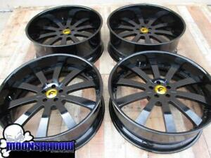 20 Forgiato Concavo All Black Wheels Rims Dodge Charger Challenger 24x8 5 24x10