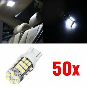 50x T10 921 194 168 W5w 6000k White Led Backup Reverse Parking Light Bulb 12v