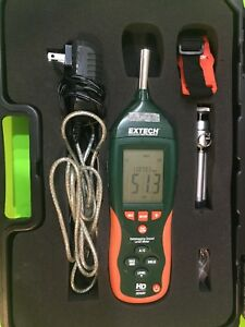 Extech Hd600 Digital Datalogging Sound Level Meter In Case