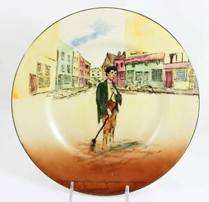 Antique Dickens Ware Collector Cabinet Plate Royal Doulton China D5175 Poor Jo