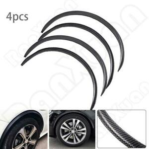 4x 28 7 Car Wheel Eyebrow Arch Trim Lips Fender Flares Protector Carbon Fiber
