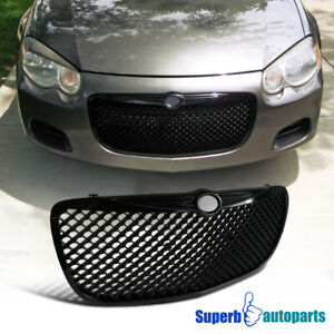 For 2004 2006 Chrysler Sebring Black Mesh Hood Grill Bumper Grille Replacement
