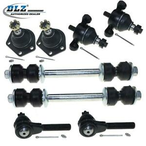 8pcs Dlz Ball Joints Tie Rods End Sway Bar Link For 1963 1964 Chevrolet Bel Air