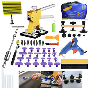 65pcs Auto Paintless Dent Removal Puller Lifter Line Board Repair Hammer Kit