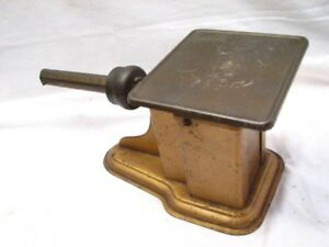 Vintage Triner Advertising Postal Desk Scale Tool Allseet New York Art Deco