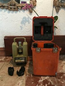 Leica wild Heerbrugg Wild T2002 Theomat Electronic Precision Theodolite W case