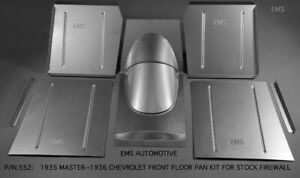Chevrolet Chevy Front Floor Pan Kit For Stock Firewall 1935 Master 1936 All
