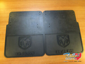 2010 2018 Dodge Ram 3500 Dually Rear Rubber Black Heavy Duty Mud Flaps Mopar Oem