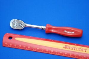 New Snap on 1 4 Drive Dual 80 Red Hard Handle Ratchet Thld72r Ships Free