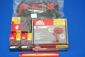 New Mac Tools 20 V Lithium Hi Torque 1 2 Drive Red Impact Wrench Kit Bwp151 m2