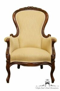 1940 S Antique Vintage Mahogany Victorian Parlor Accent Arm Chair