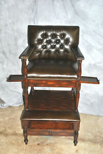 Extremely Rare Vintage Maitland Smith Game Chair Hall Chair
