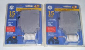 Two 2 Ge 15 Amp Combination Arc Fault Circuit Interrupter Breaker Thql1115afp2