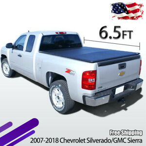 Roll Up Tonneau Cover For 2007 2013 Chevy Silverado Gmc Sierra 6 5 Bed