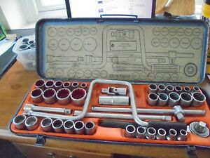 Gedore D19 Ymawz Socket Set Af Metric Whitworth Made In West Germany