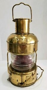 1939 Nippon Sento Ships Lantern Red Nautical Light Rare