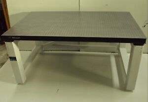 Crated 3 X 5 Newport Optical Table Rigid Legs Bench Breadboard Lab Isolation