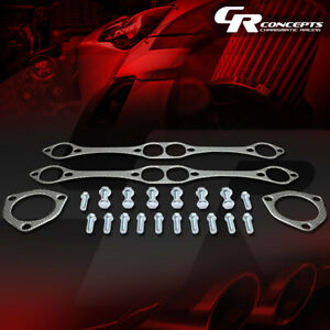Exhaust Header Gasket Complete Set For Chevy Sbc Small Block Engine 283 305 327