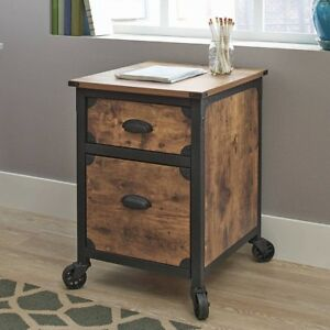 Home Filing Cabinet File 2 drawer Office Wood Metal Small Rolling Storage Mobile